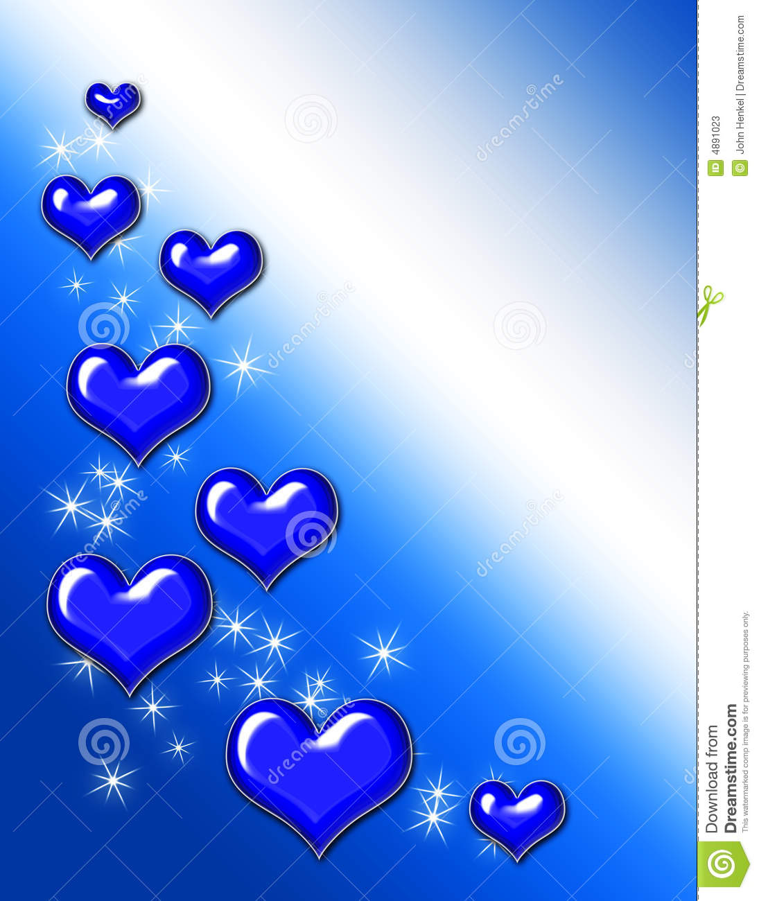 blue heart background stock illustration illustration of adore