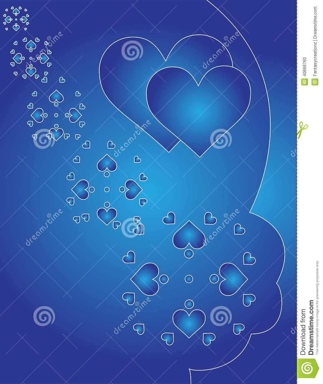 Background Designs For Projects Blue Hearts Background...