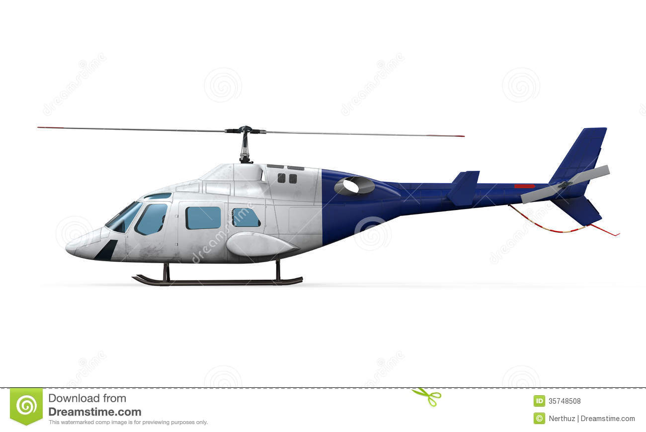 Elicottero Bianco : Blue helicopter royalty free stock photos image
