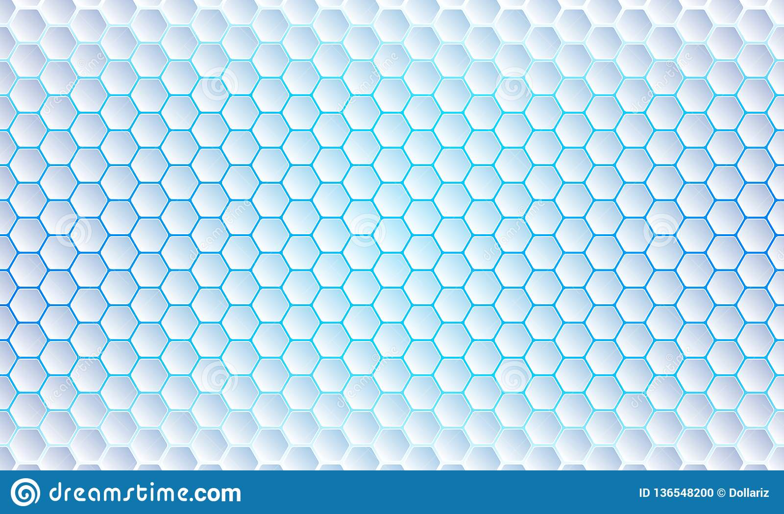 Blue Hexagon background, modern abstract, futuristic geometric vector background