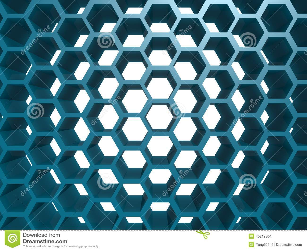 blue hexagon pattern stock illustration illustration of chrome