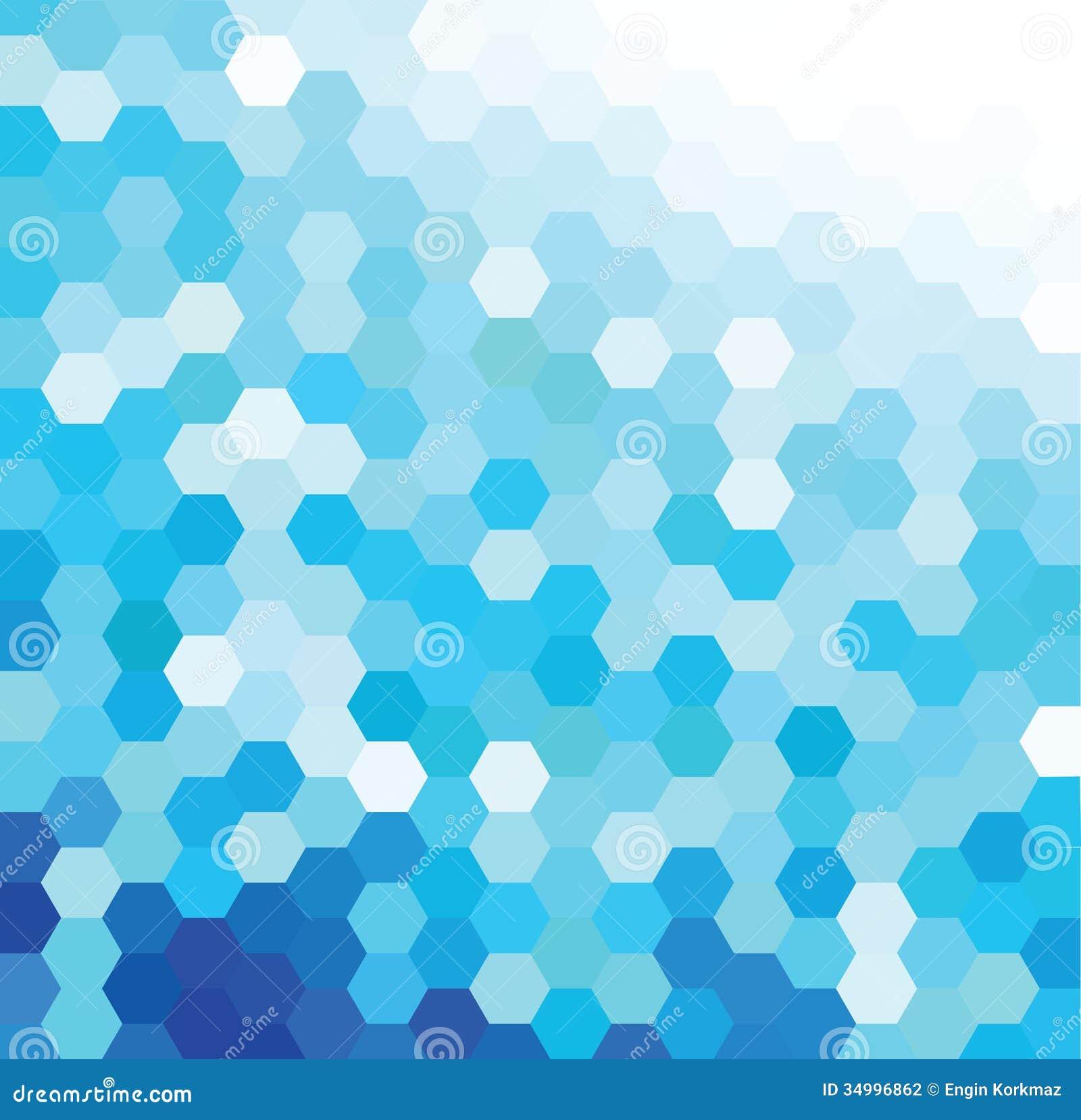blue hexagonal pattern vector - photo #2
