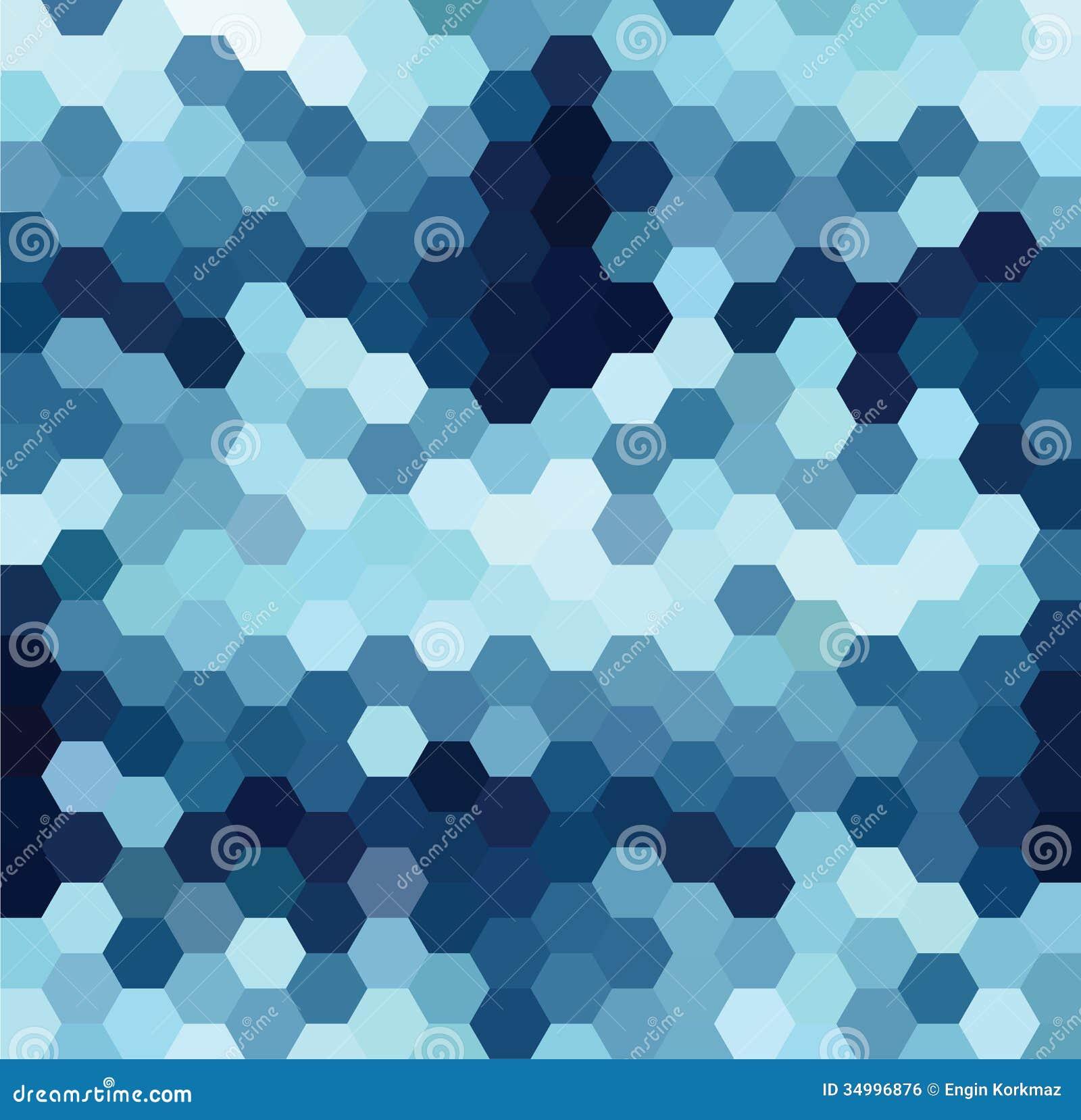 blue hexagonal pattern vector - photo #1
