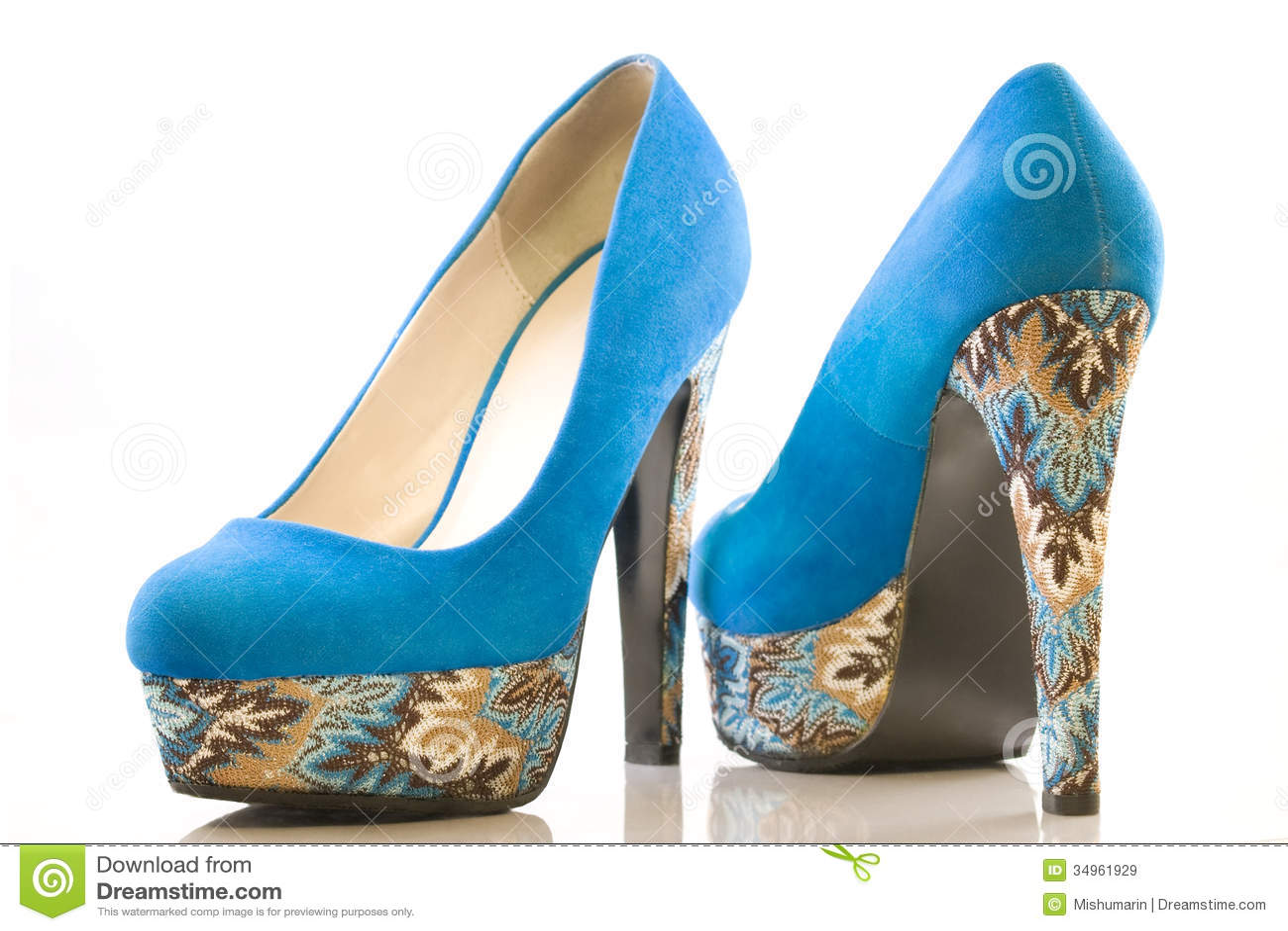 Blue Shoes High Heels