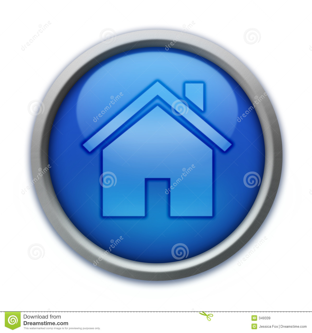 Blue home button stock illustration image of silver for Anti bouton maison