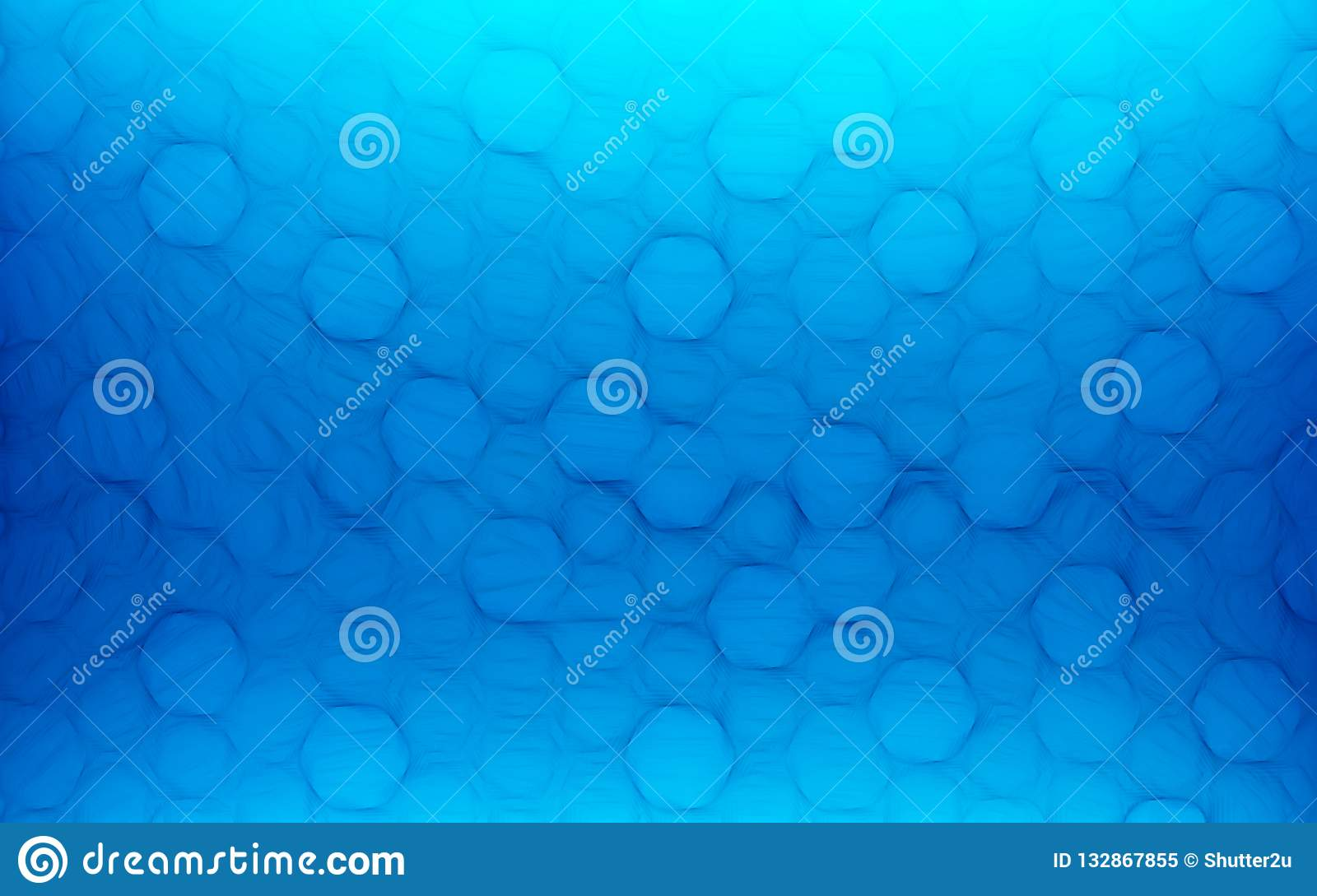 Blue honeycomb abstract background. Wallpaper and texture concept. Minimalism theme