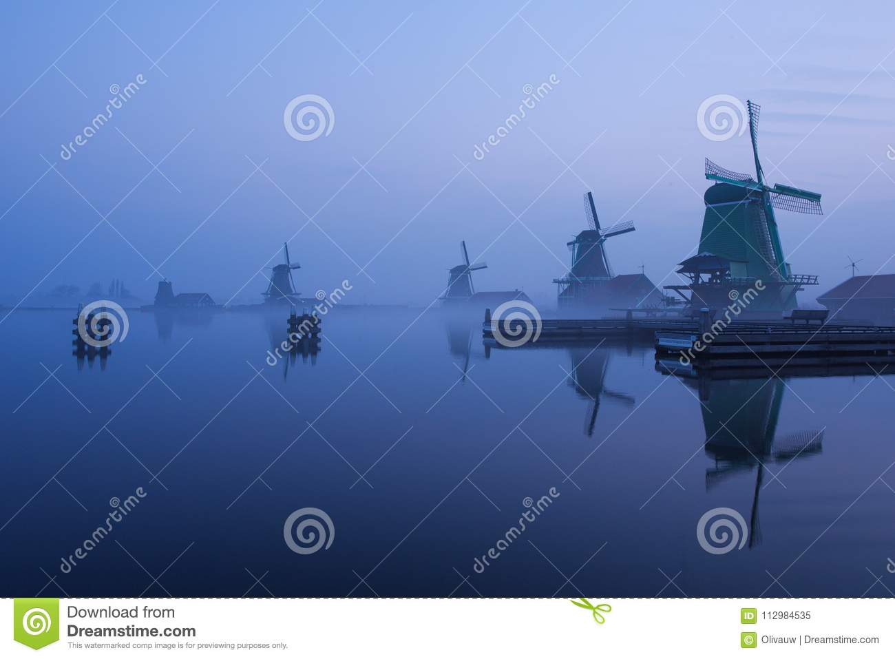 Blue Hour on the Zaanse Schans