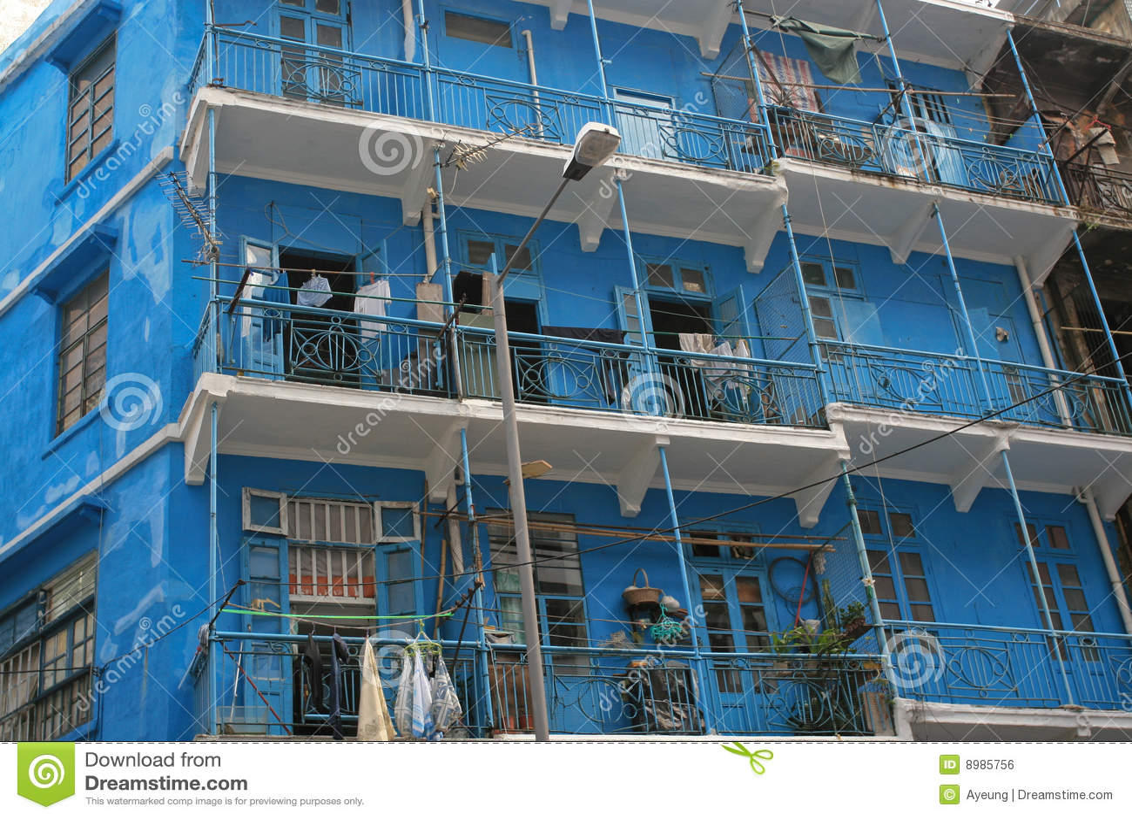 Blue House Hong Kong Royalty Free Stock Image Image