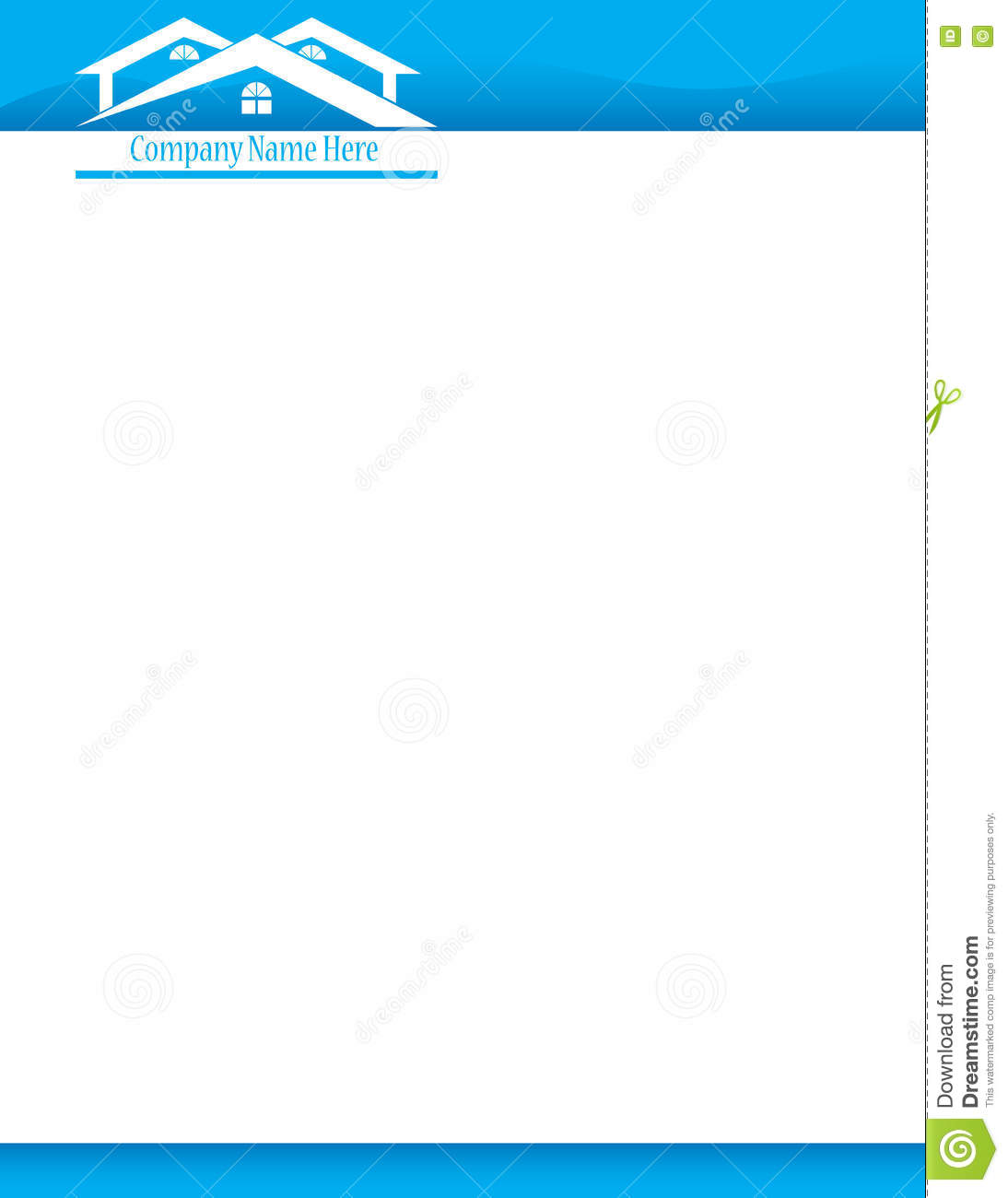 Blue House Letterhead Template Stock Photo Image 75484146