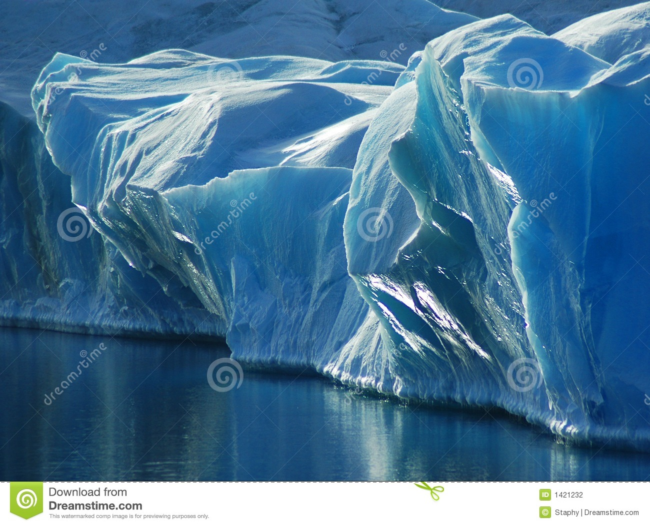 Download Blue Ice stock photo. Image of calm, drifting, antarctica - 1421232