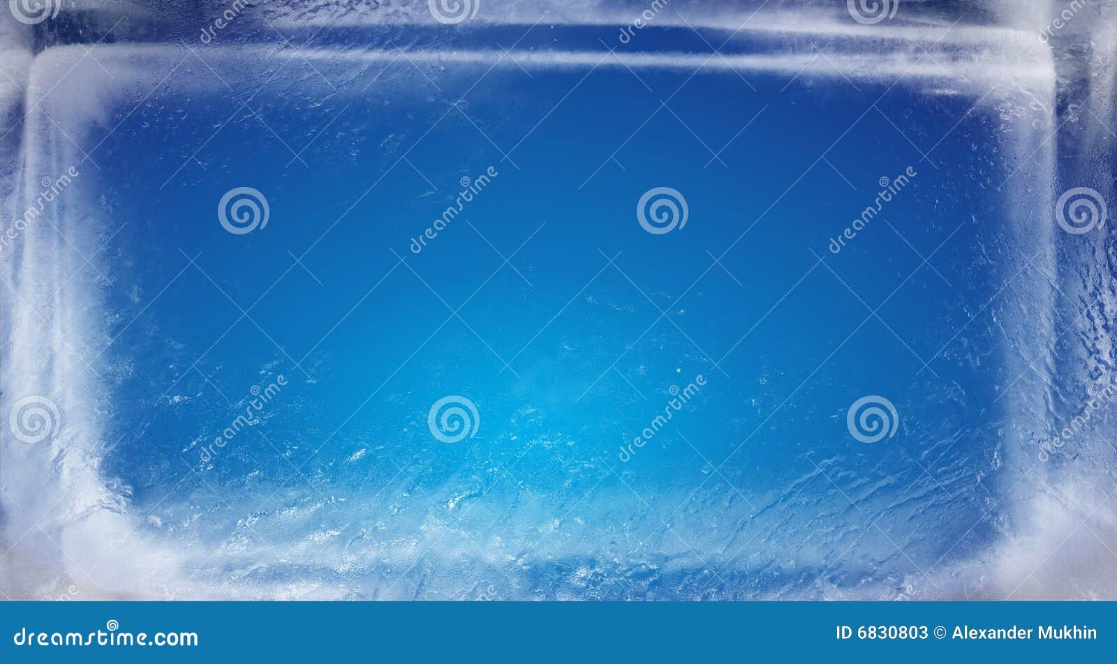 Blue ice brick