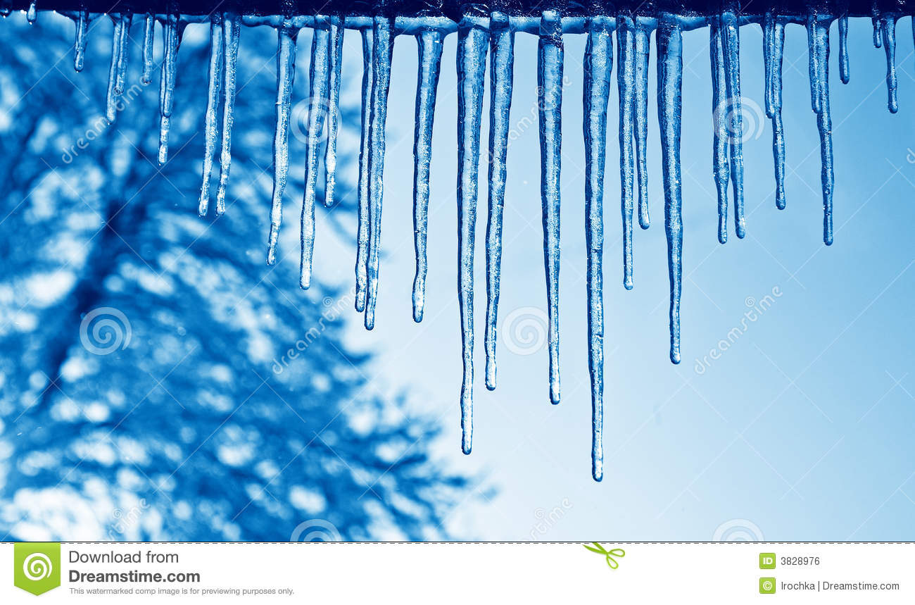 Blue Icicles Royalty Free Stock Image Image 3828976