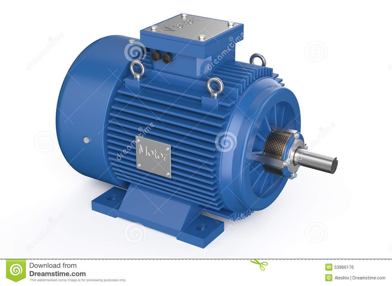 Blue industrial electric motor stock illustration image for Used industrial electric motors