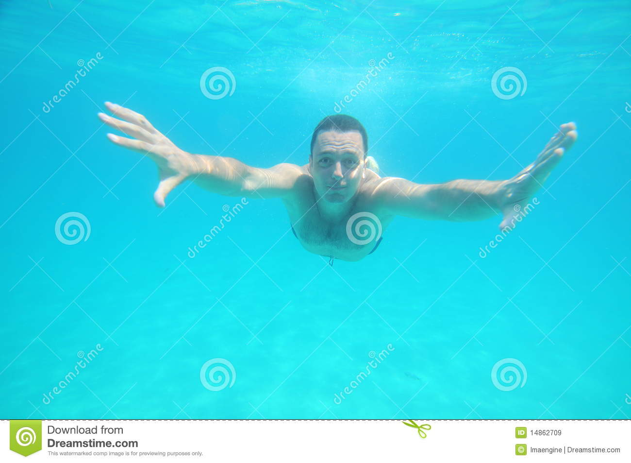 Blue infinity (underwater swimmer)