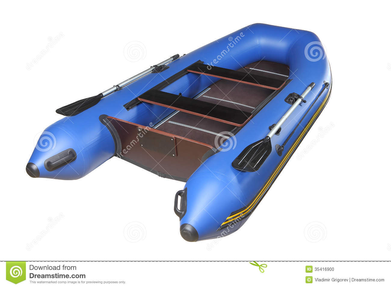 sport inflatable boat for recreation and fishing, with oars, plywood ...
