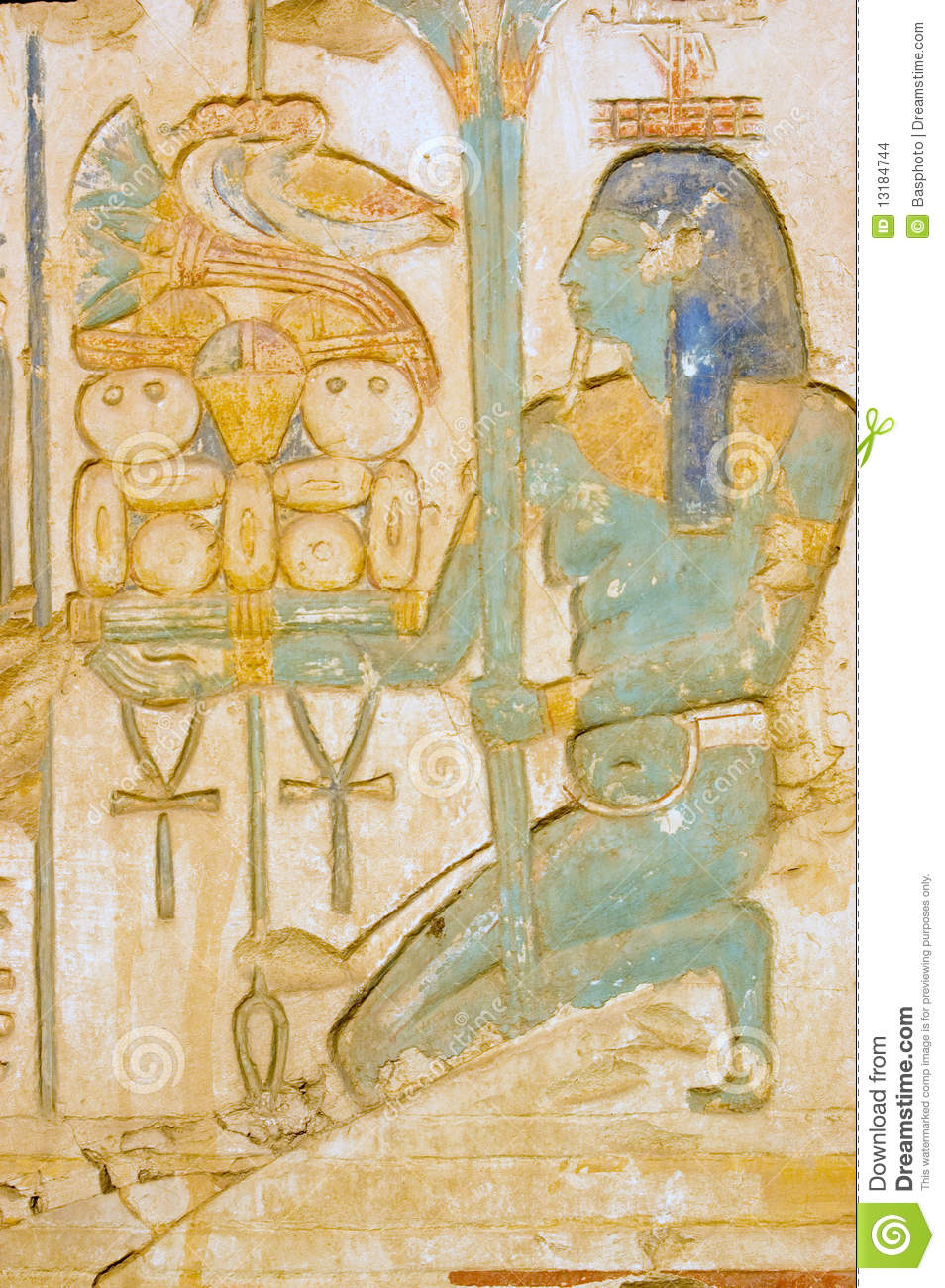 Blue isis goddess with food tray stock photo image 13184744 for Ancient egyptian cuisine