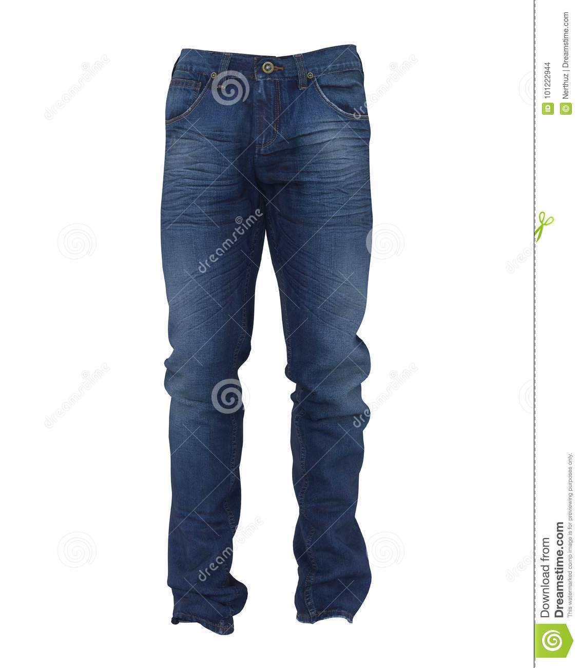 Blue Jeans Isolated