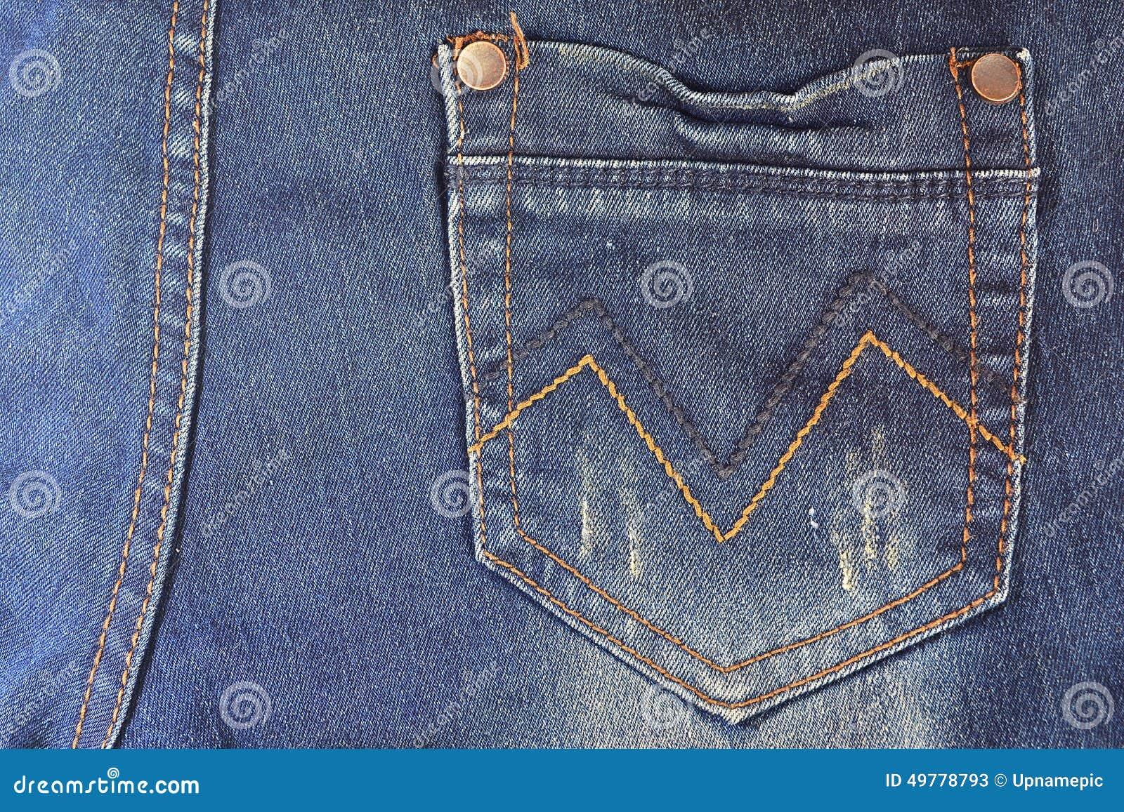blue jeans pocket stock photo image 49778793