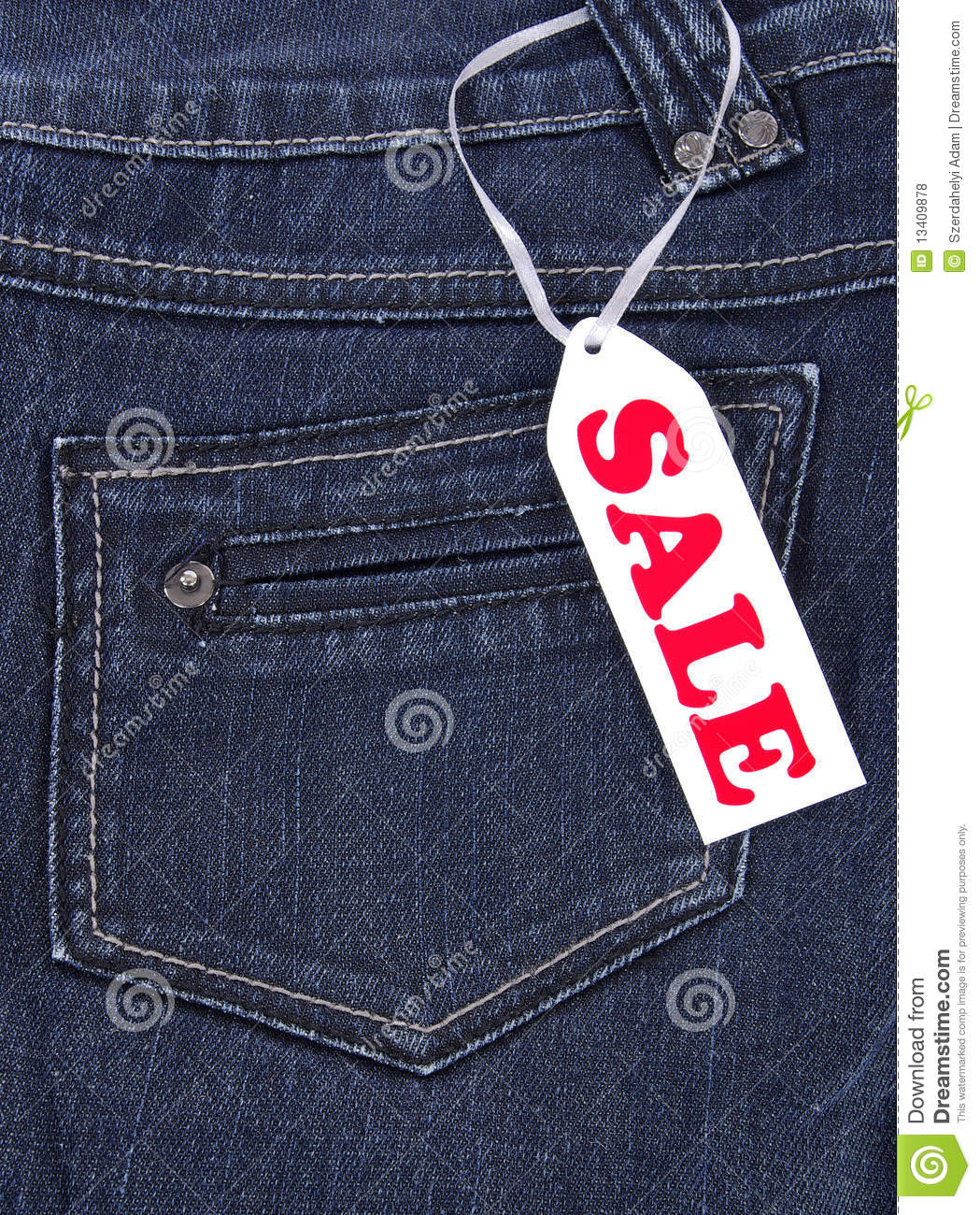 Blue Jeans Sale Royalty Free Stock Photos - Image: 13409878
