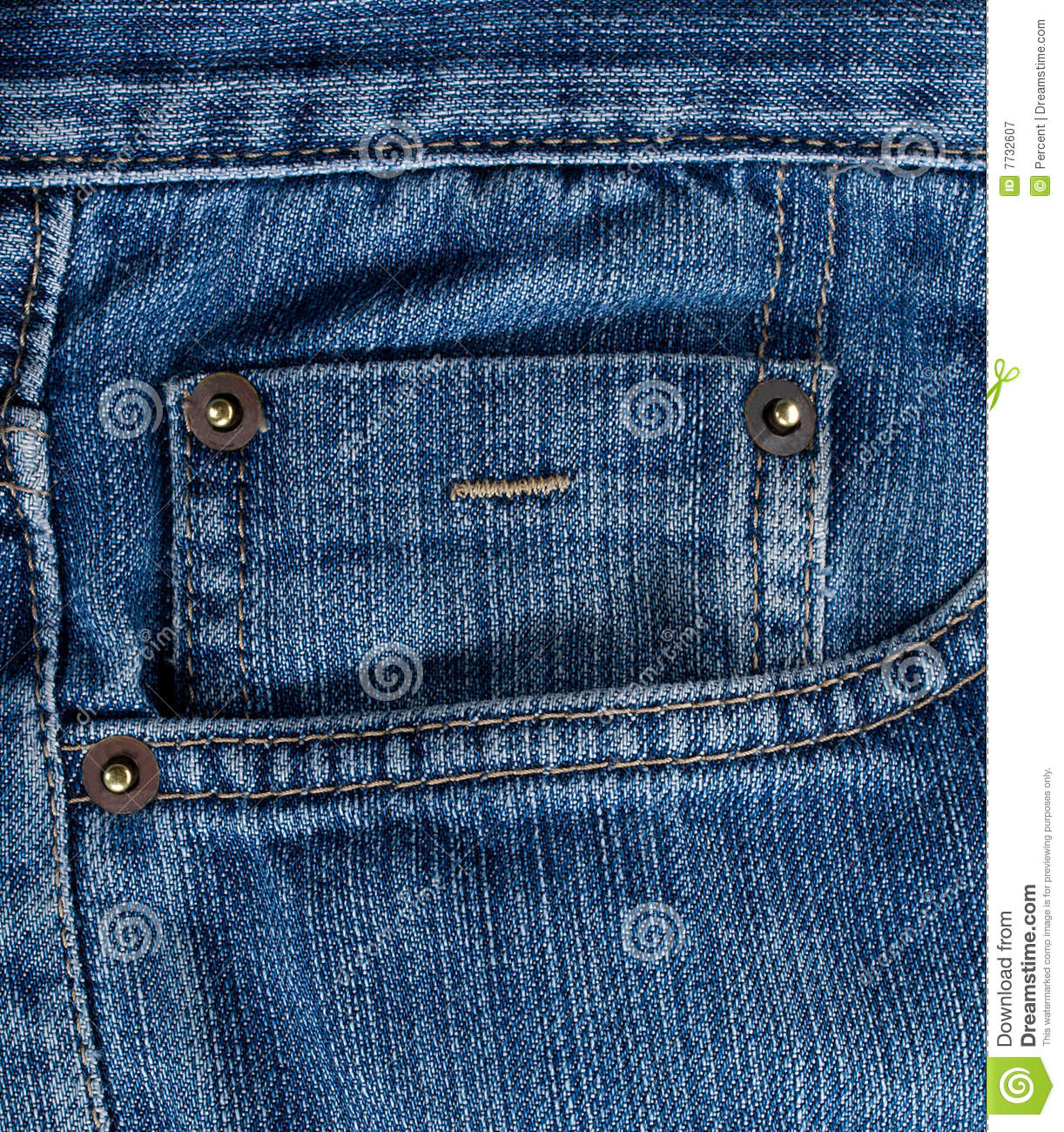 Blue Jeans Texture With Pocket Royalty Free Stock Photography - Image: 7732607