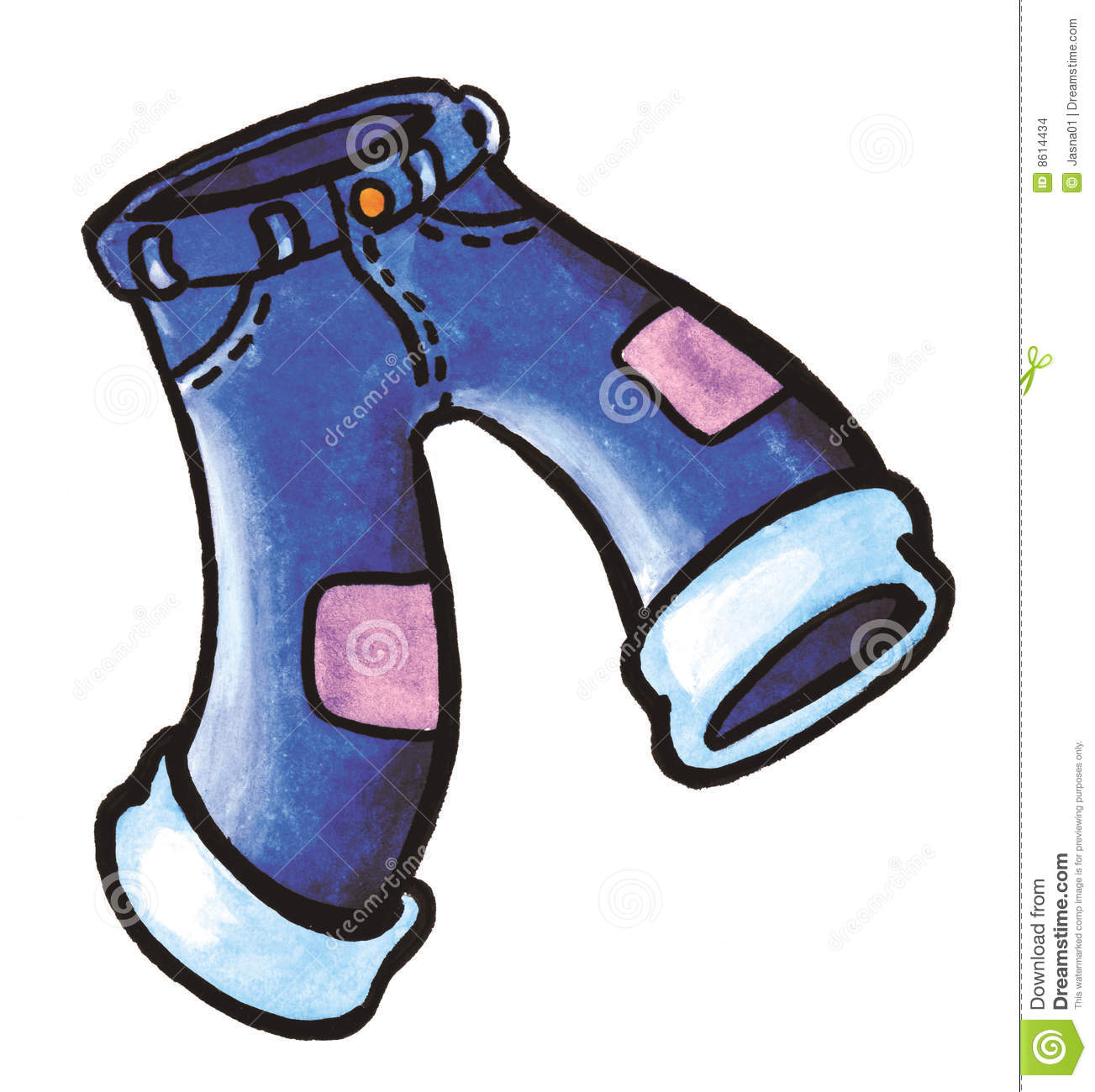 Blue Jeans Trousers Stock Images - Image: 8614434