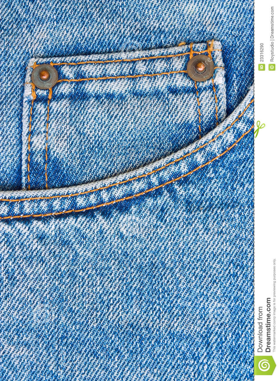 Blue Jeans Trousers Pocket As Background Stock Photo - Image 23316290