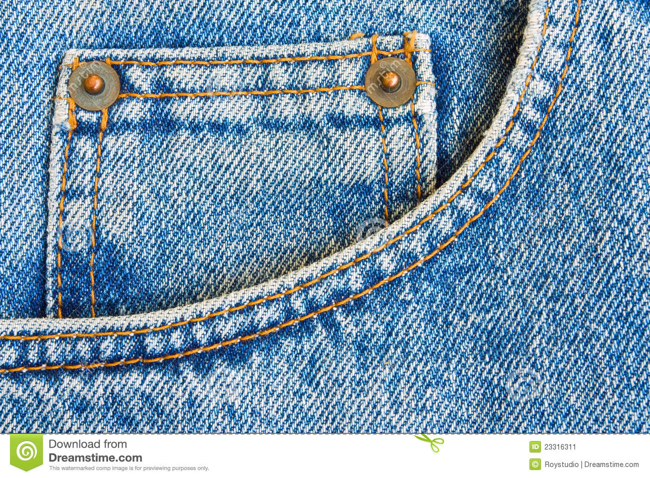 Blue Jeans Trousers Pocket As Background Stock Image - Image 23316311