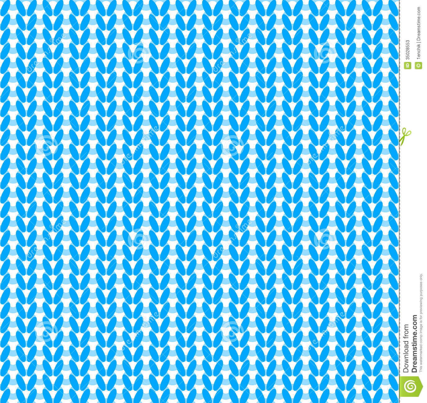 Blue Knitted Vector Seamless Pattern Stock Photos - Image ...