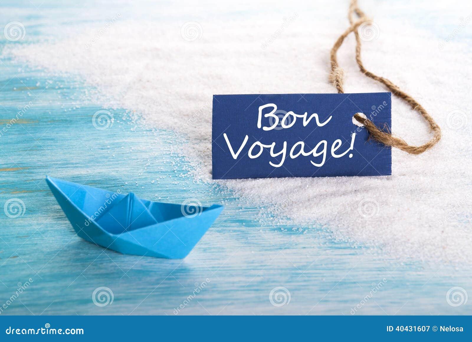 Blue Label With Bon Voyage Stock Photo Image 40431607
