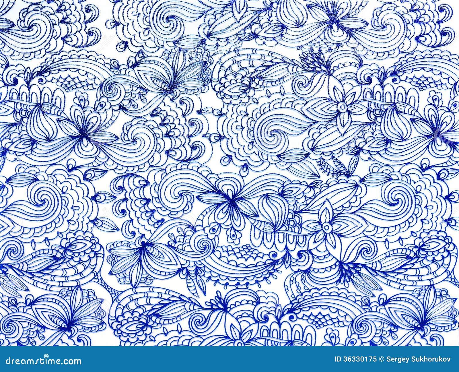 Blue Lace Pattern Royalty Free Stock Photo - Image: 36330175