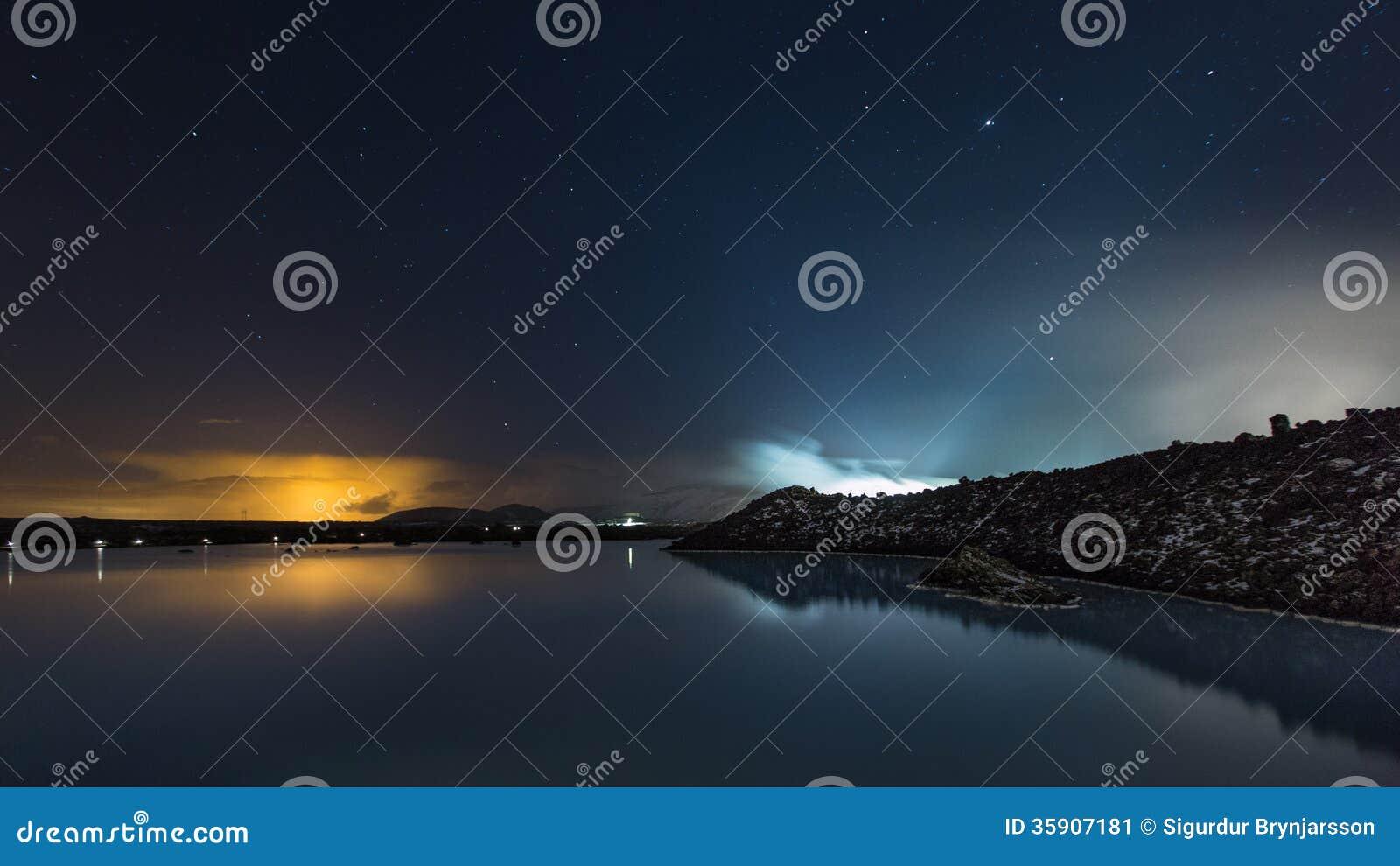 The Blue Lagoon on a calm night