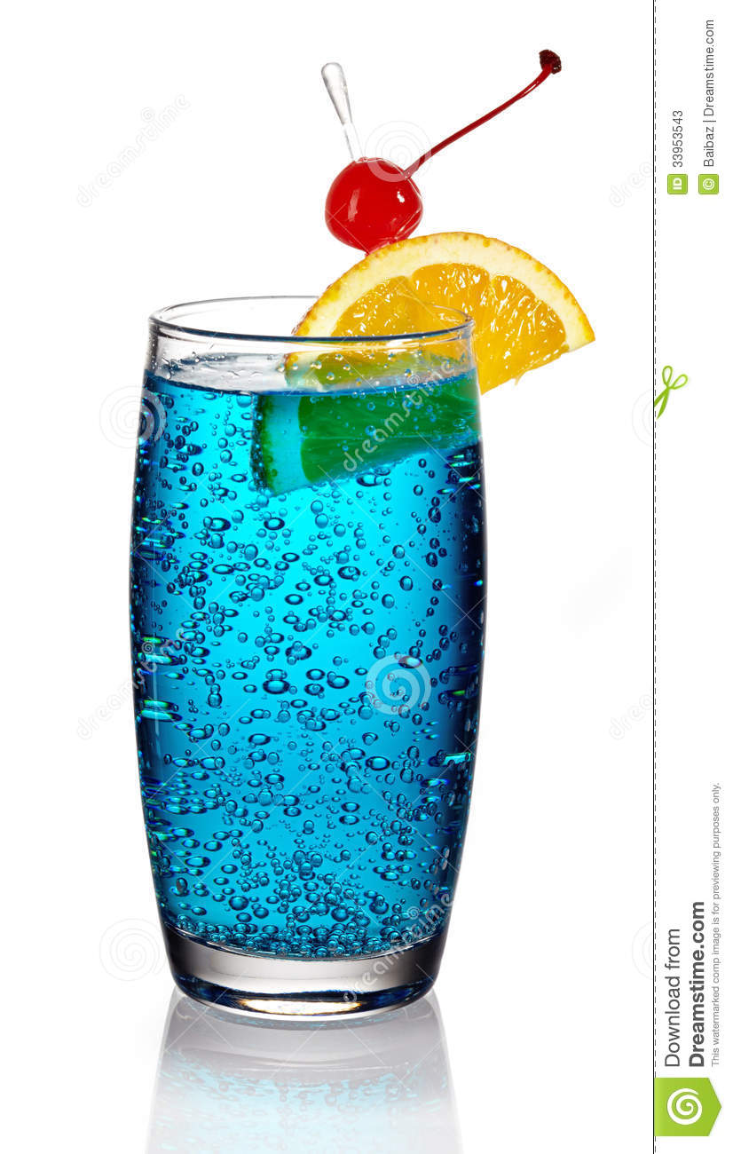 Blue lagoon cocktail stock photos image 33953543 for Blue lagoon cocktail