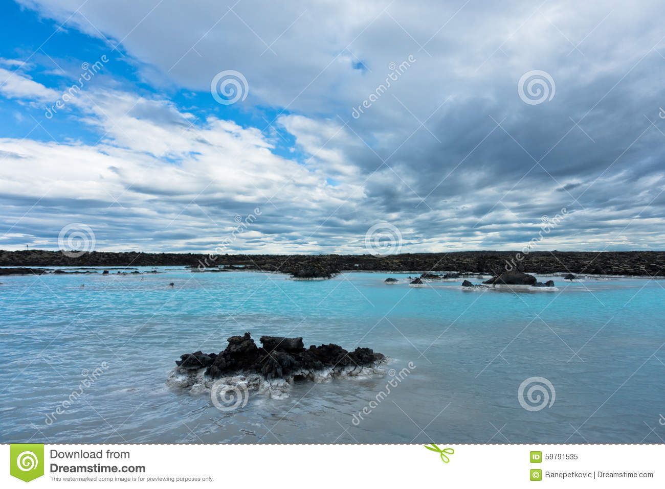 Blue lagoon geothermal spa near grindavik iceland stock for Where is the blue lagoon located in iceland