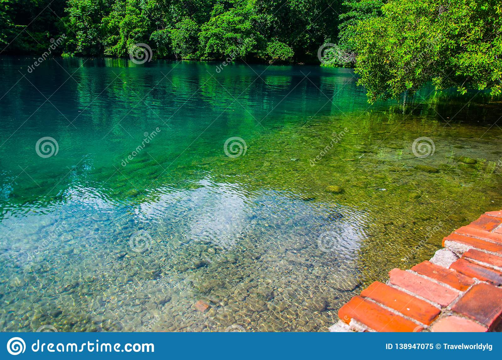 Blue Lagoon Portland Jamaica Stock Image Image Of Exotic