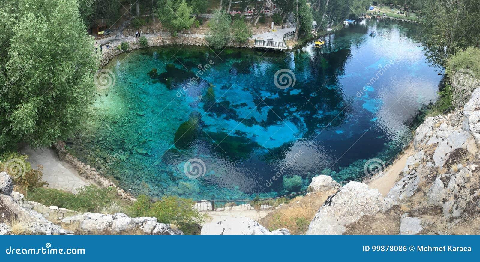 Blue Lake in Turkey