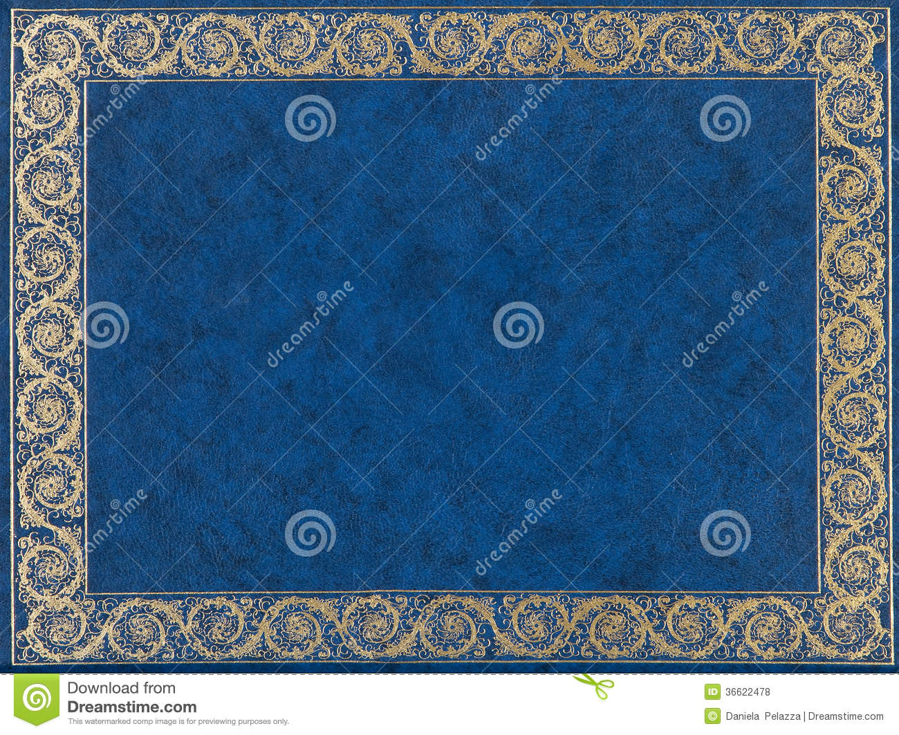 Blue Cover Cookbook : Blue leather cover stock photo image of frame historic
