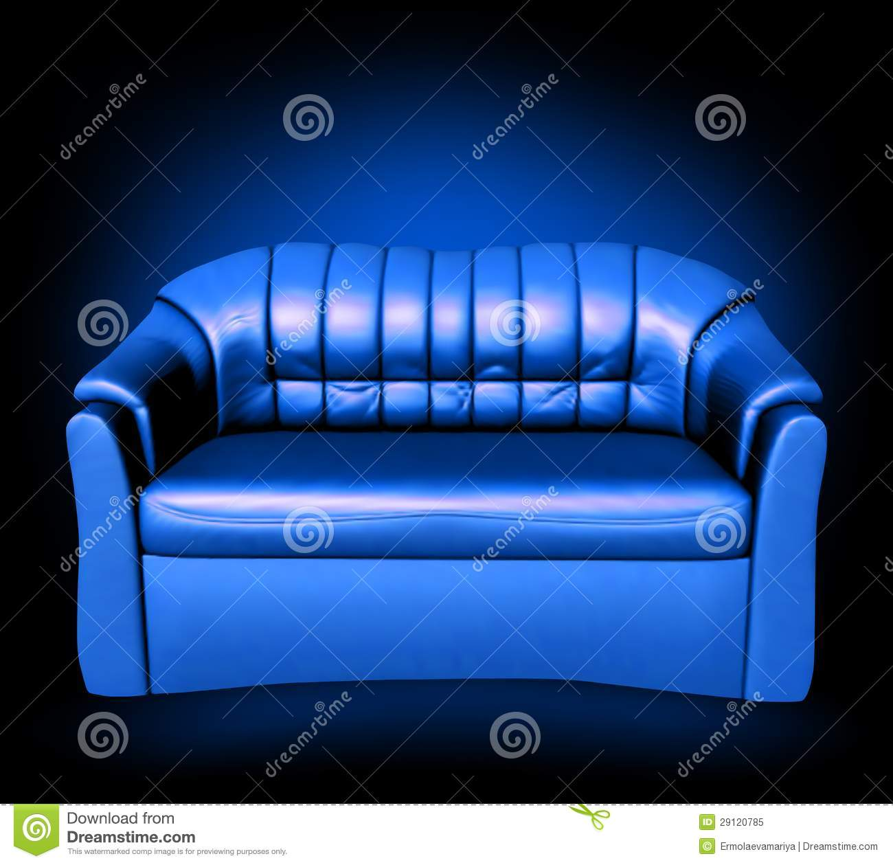 blue leather sofa vector royalty free stock photo image