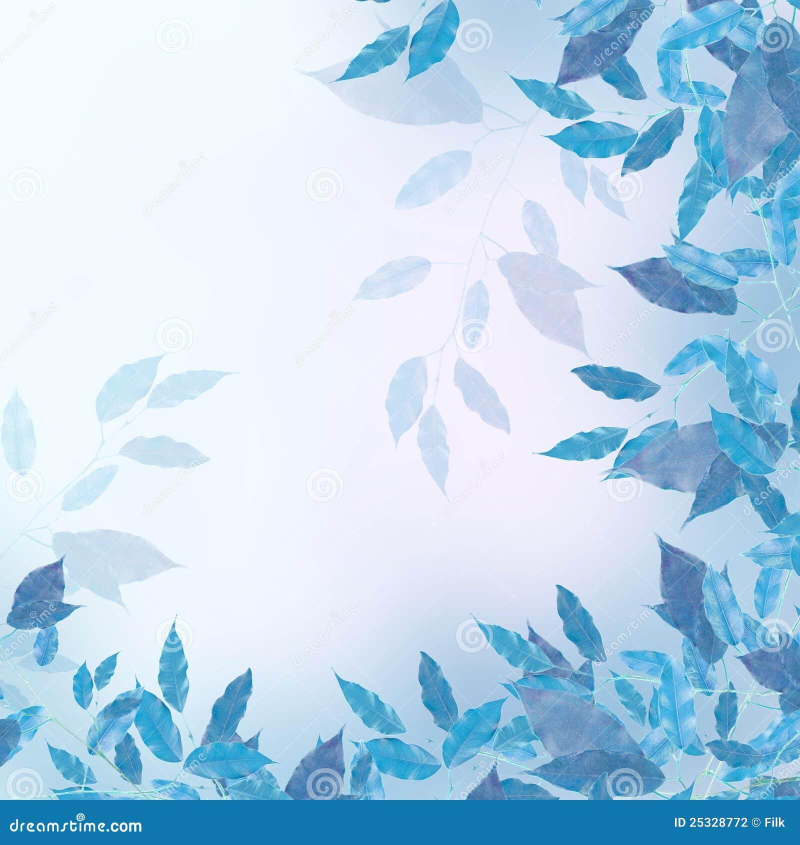 Blue Leaves Border Stock Photography - Image: 25328772