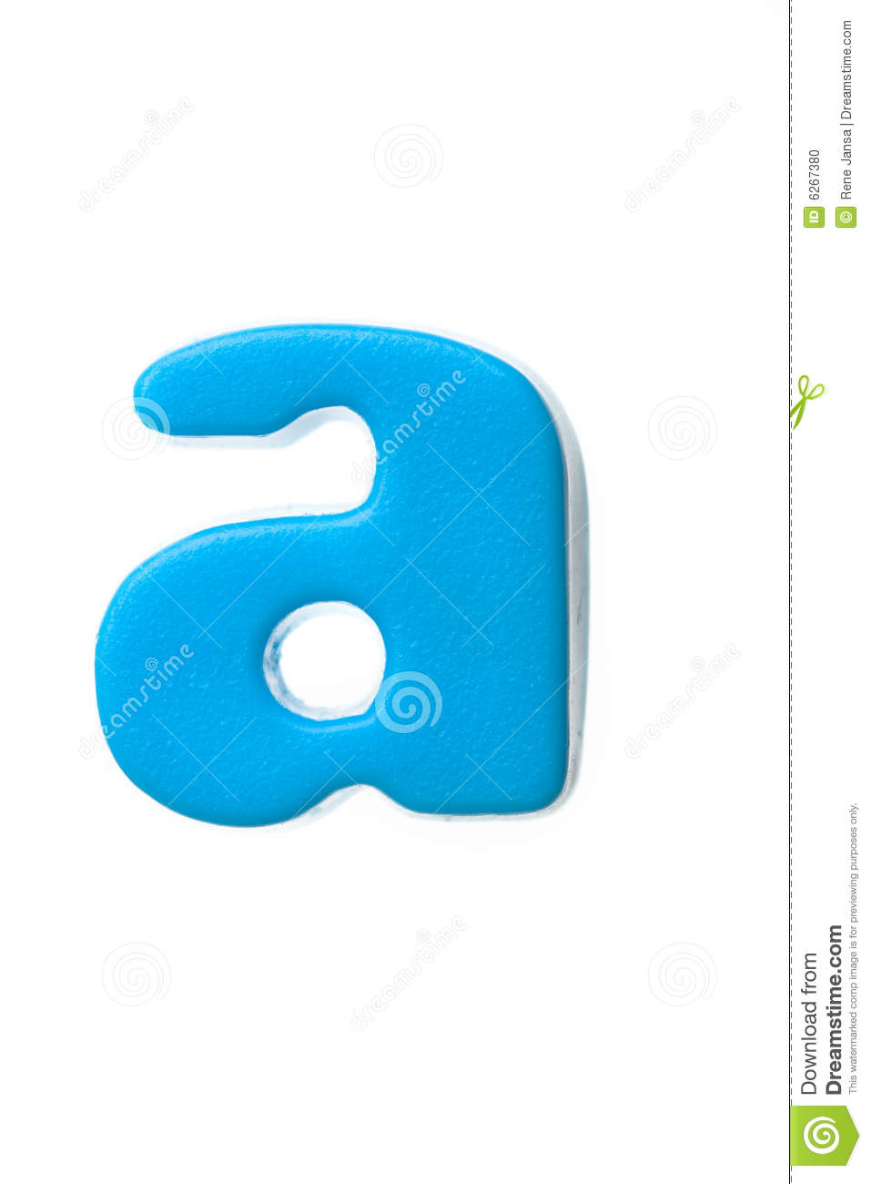 Blue Letter A Stock Photo - Image: 6267380