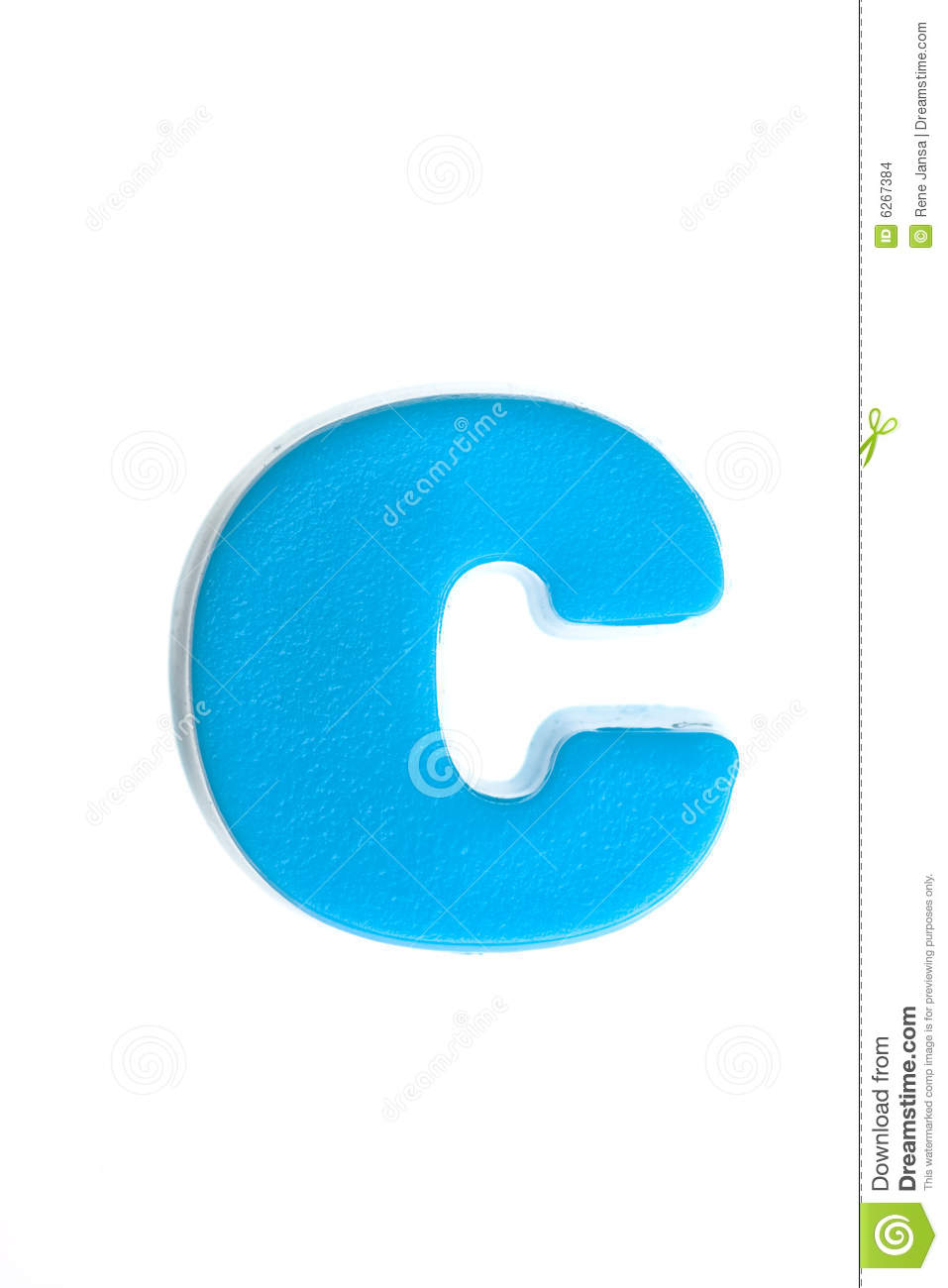 Blue Letter C Stock Images Image 6267384