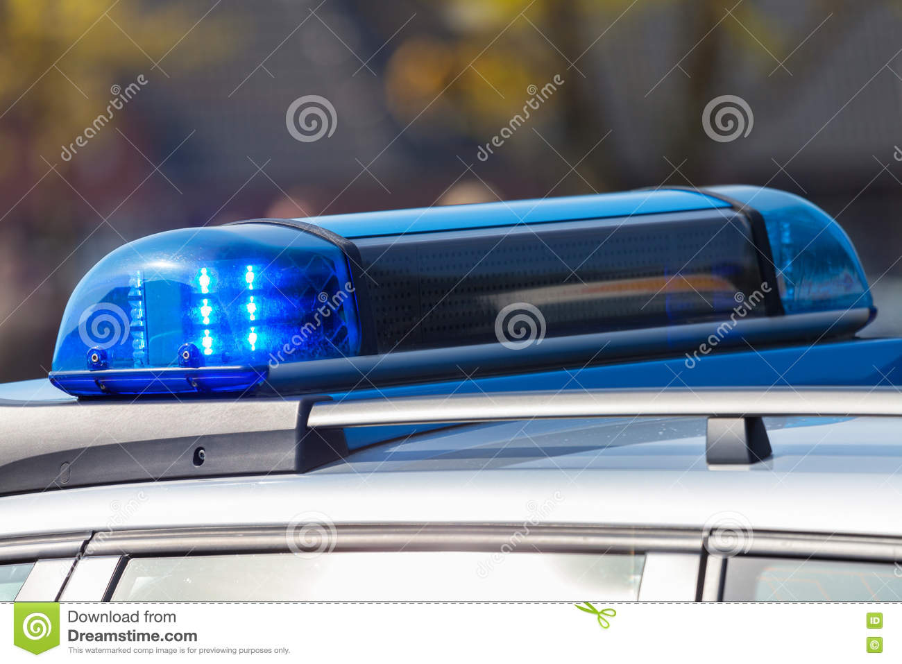 Blue Light Bar From A German Police Car Stock Image Image