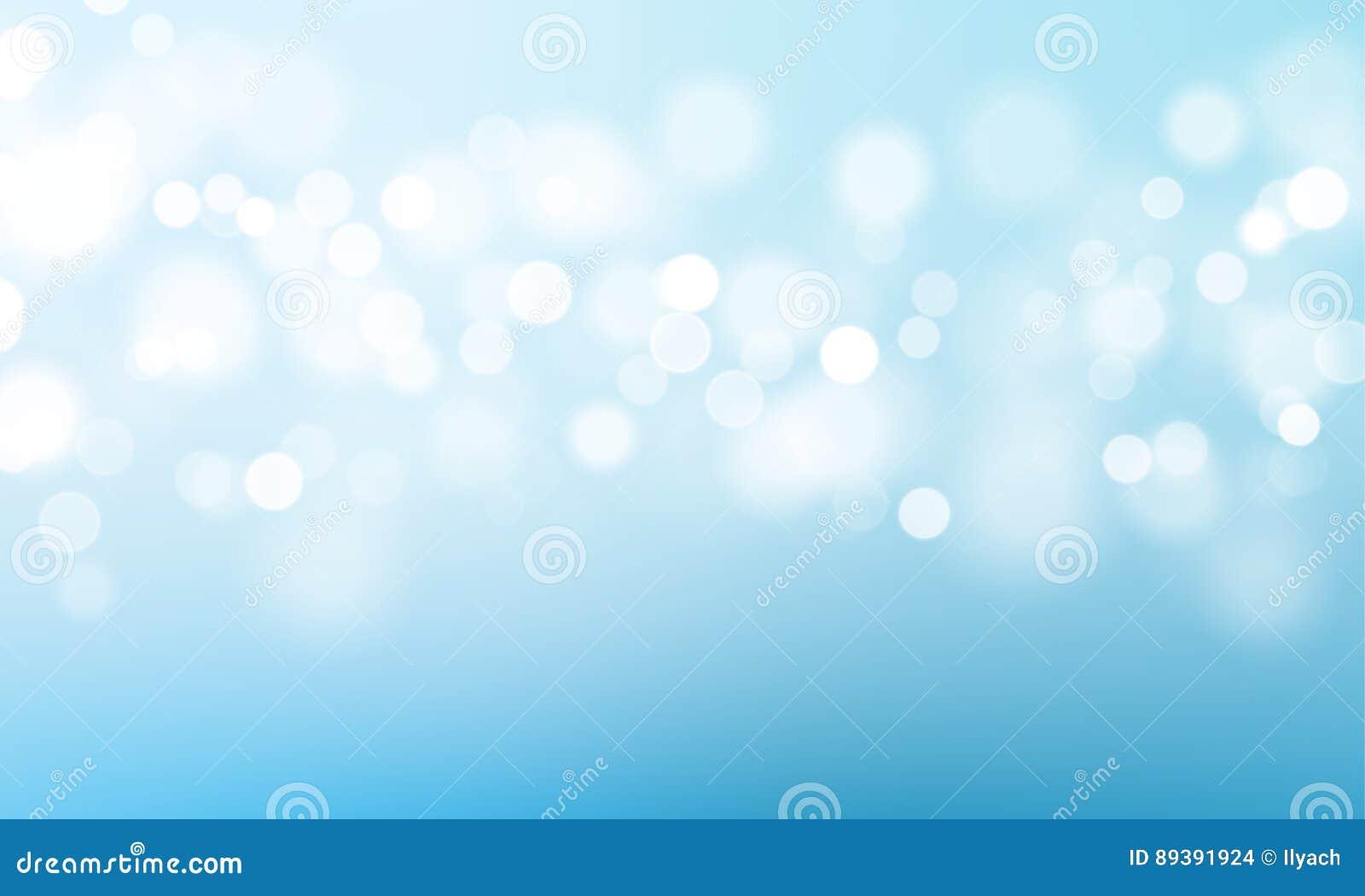 Blue Light Bokeh Flare Glitter Or Sparkling Vector Background Stock