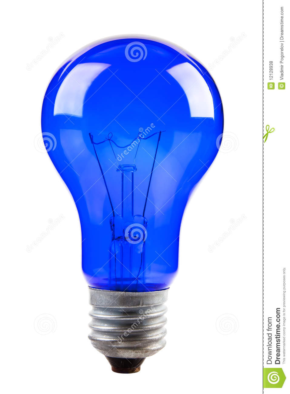 Blue Light Bulb Royalty Free Stock Photos Image 12128938