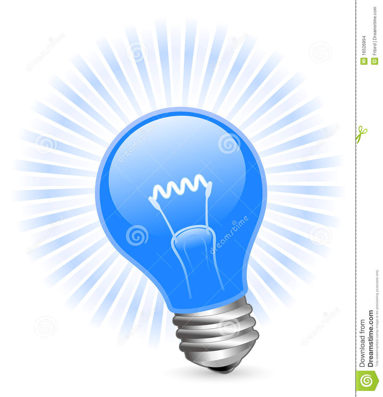 Blue Light Bulb Stock Images Image 16526894