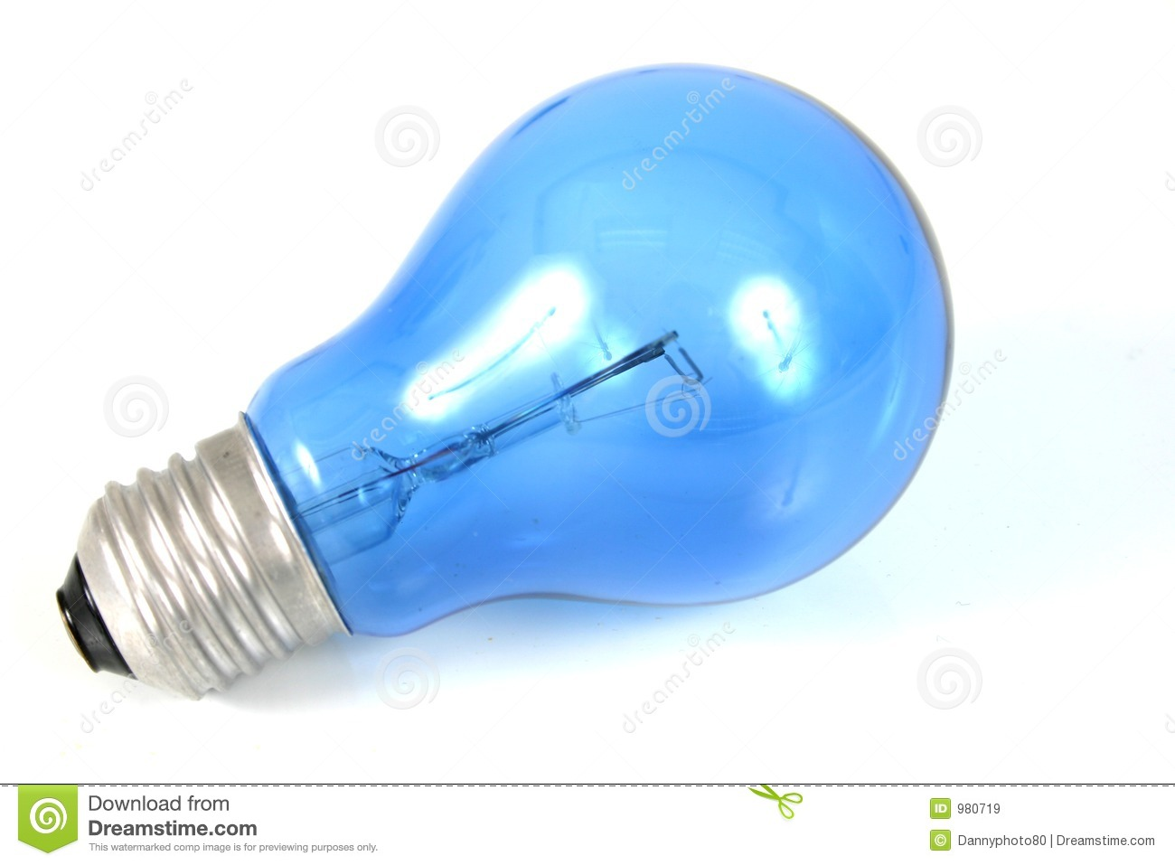 Blue Light Bulb Royalty Free Stock Images Image 980719