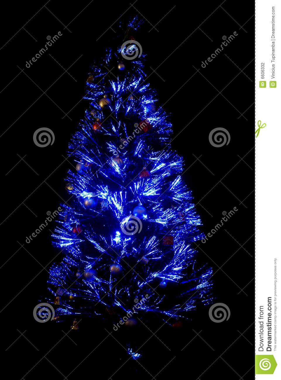 Blue Light Christmas-Tree Stock Photography - Image: 6606332