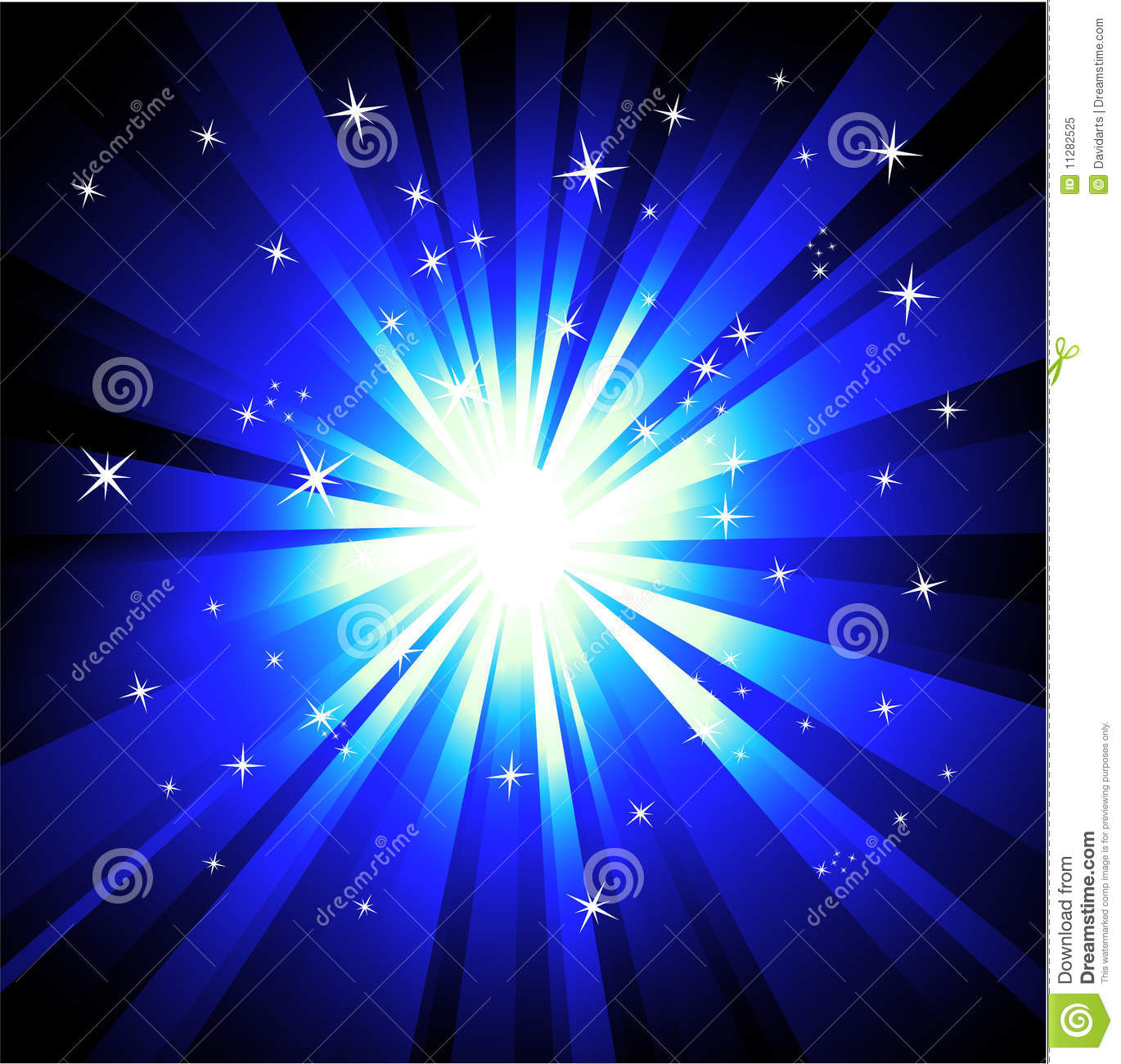 Blue Lights Explosions Background Stock Vector