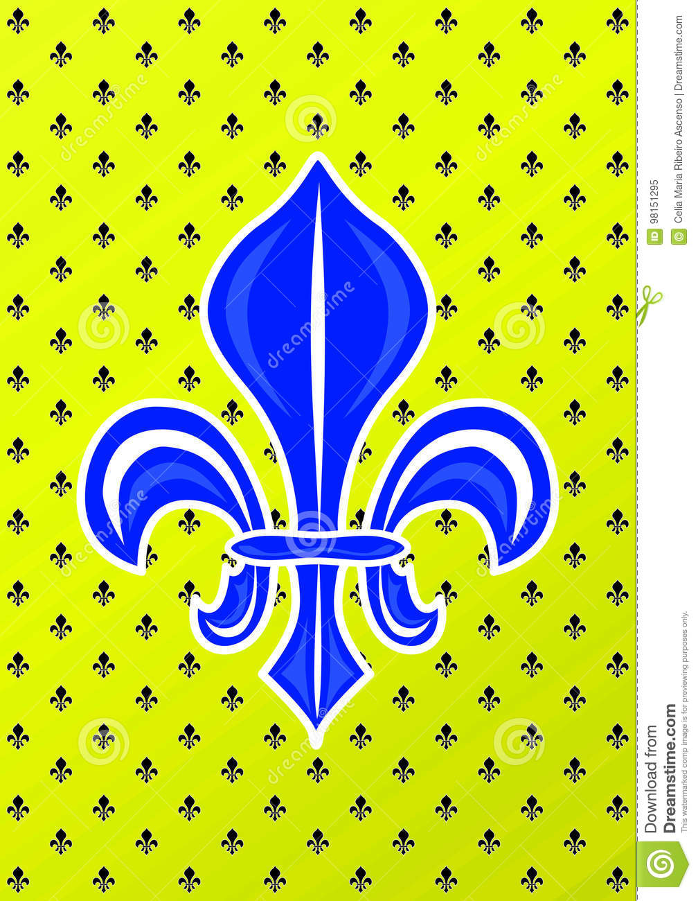Blue lily french royalty symbol stock illustration illustration blue lily french royalty symbol biocorpaavc Gallery