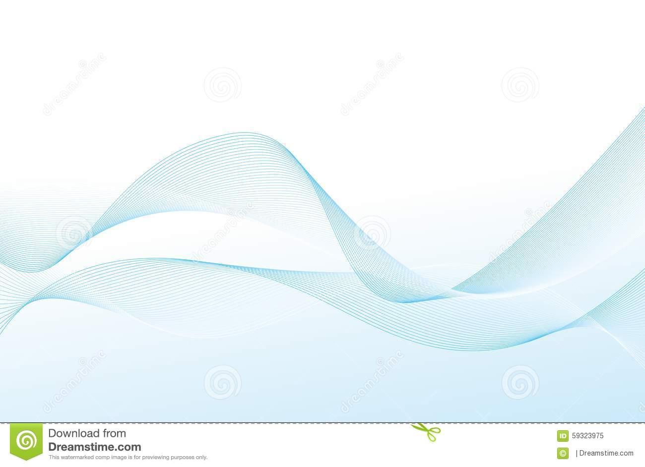 Blue Line Wave Background Stock Vector - Image: 59323975