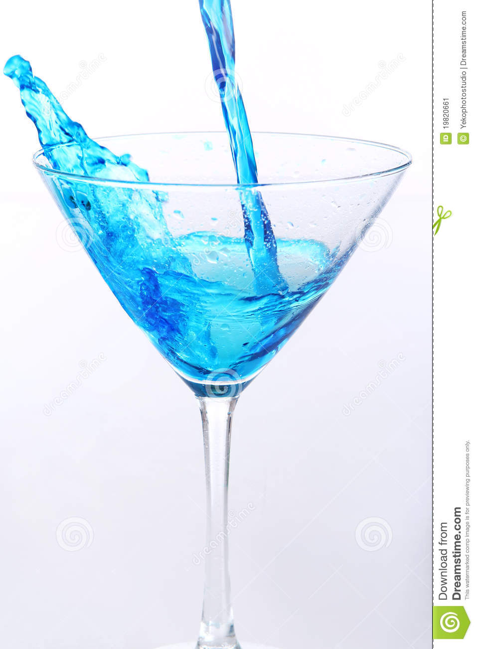 Blue Liquid Pouring Into Glass Stock Image Image 19820661
